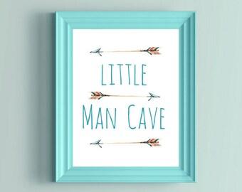 Little Man Cave, Little Man Cave Sign, Arrow Nursery Decor, Arrow Wall Art, Baby Boy Gift Ideas, Little Man, Baby Boy Wall Art,Nursery Print