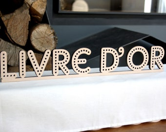 Guest book sign wedding for guests word giant letters guest book sign our guestbook decoration table theme industrial cinema