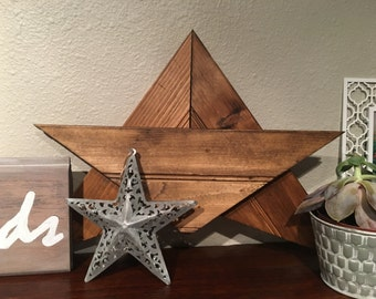 Wooden Star Wall Decor rustic wood stars | etsy