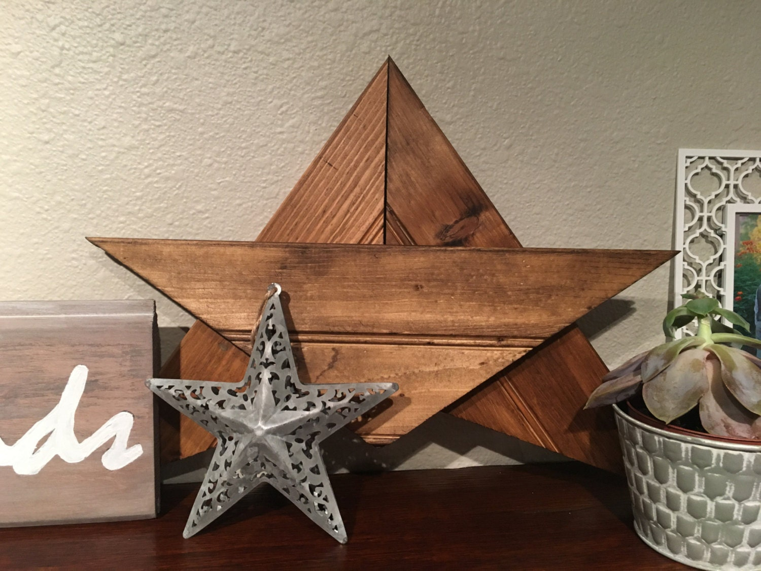 Star Wall Decor Ideas: Wood Star Wooden Star Rustic Wood Star Rustic Wall Decor