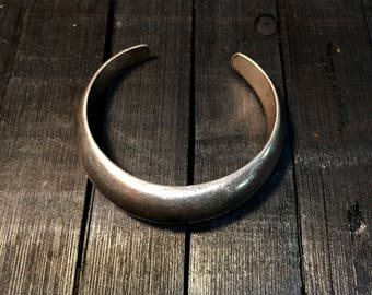 Vintage Mexican Taxco Sterling Silver Cuff Bracelet    #225