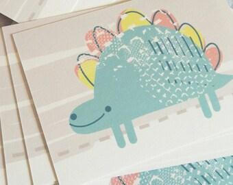 Happy Dino A6 Print