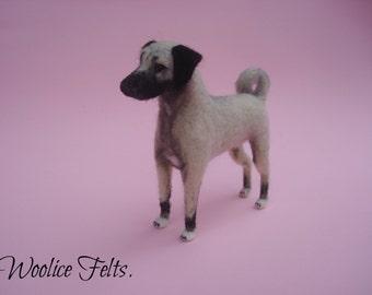 MADE TO ORDER  needle felted Dog Kangal Pet Portrait miniature handmade unique