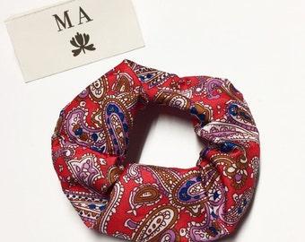 Red kashmir scrunchie