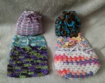 Hand crochet change purse