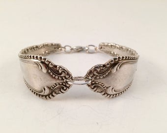 Vintage silver-plated silverware bracelet