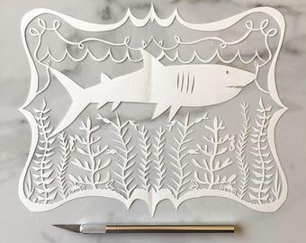 Original Papercut Shark