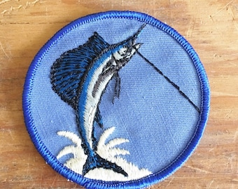 Vintage Marlin Fish    Marlin Patch  for Jackets and Vests