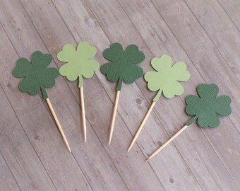 Cupcake Toppers, Four Leaf Clover, Shamrock Cupcake Toppers, St Patrick's Day Decorations, St Patrick's Day, Party Decorations