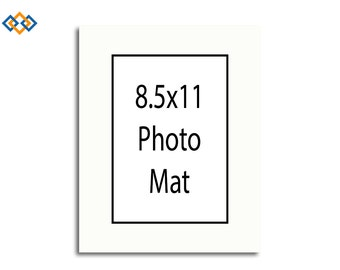 custom 85x11 mat black core rectangle photo mats