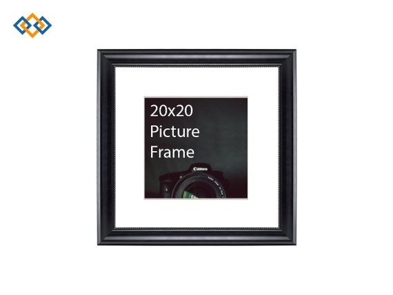 20x20 Premium Picture Frame Black By Matboardplus On Etsy