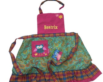 Personalised Childrens Owl Apron