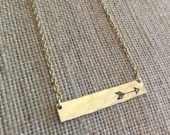 Arrow Bar Necklace, arrow jewelry, boho, arrow necklace, follow your arrow
