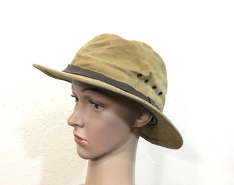 filson heavy cotton canvas hunting hat made in usa size 7