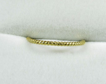 Decent Handmade gold-plated Ring, Sterling Silver 925 knotted Ring gold-plated