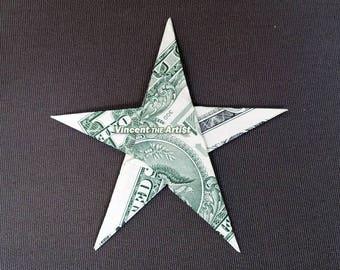 STAR Money Origami Dollar Bill Cash Sculptors Bank Note Handmade Dinero