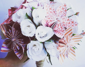 Red Origami Crepe Paper Bouquet