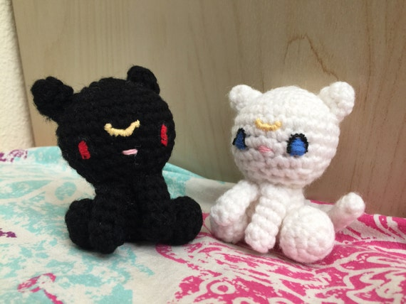 Amigurumi Sailor Moon Luna : Sailor Moon Luna and Artemis Amigurumi Set by 30Stitches ...