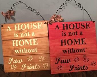 Paw Print sign