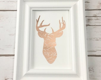 Ornate Deer Foil Print