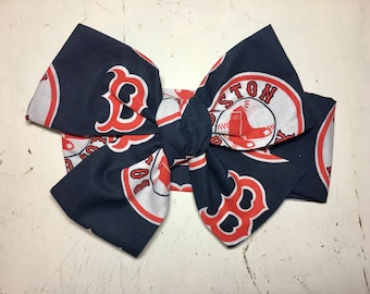 TIED, Boston Red Socks, Headwrap, Baseball Headwrap,Baby Headband,Toddler Bows, Big Bow, Headband, Infant Headwrap, Baby Girl Headwrap