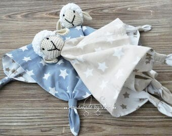 """Blanket """"Sheep"""" with/without name, light grey or beige"""