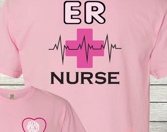 Monogrammed Nurse Nurses Personalized Customized ER Nurse Trauma Nursing RN LPN