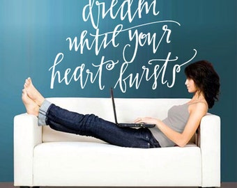 rvz2787 Wall Decal Vinyl Decal Sticker Lettering Quote Sign Words Dream Heart