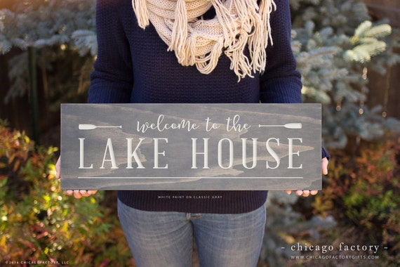 Lake House Sign Lake House Decor Lake Sign Welcome To The