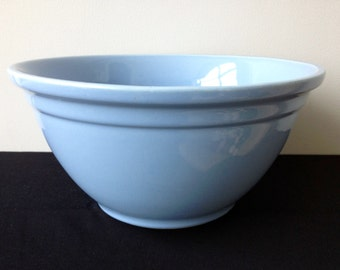 "USA Pottery (McCoy) 12"" Pale Blue Mixing Bowl 0112"