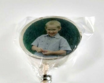 4x Birthday Favour Lollipops, Photo lollies, Birthday Gift,  Hard Candy, Image Lollies, Personalised, Fun Favours, uk
