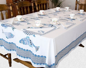 Block Printed Tablecloth