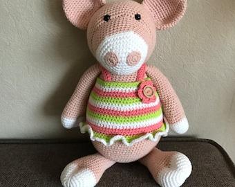 Crochet pig (hug)