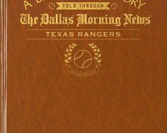 Dallas Morning News Texas Rangers Baseball Book - Leatherette - With embossing on front cover