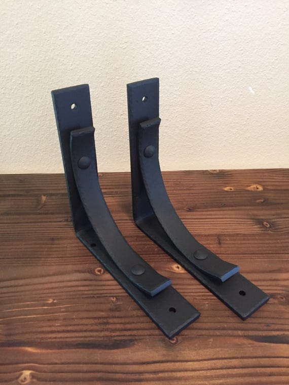 Sale Metal Shelf Brackets 2pc Set Hand By Hollowcreekwelding