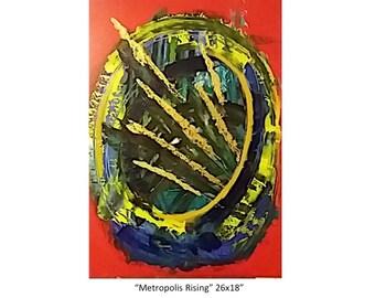 "Metropolis Rising 26x18"""