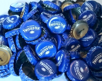 100 Twisted Tea Recycled Beer Bottle Caps