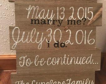 Customized Date Wall Hang