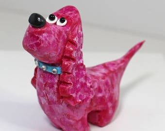 Resin Eager Spaniel Dog Figurine