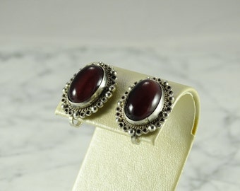Vintage Sterling Silver Earrings (screw backs)
