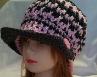 Hand Crochet Newsboy Hat