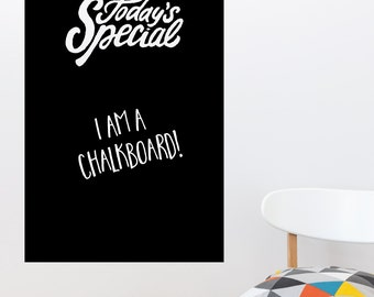 Today's Special Chalkboard Wall Decal Sticker VC0672