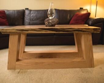 slab coffee table live edge wood