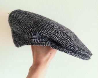 Gorgeous Wool Tweed Flat Cap by Harris Tweed