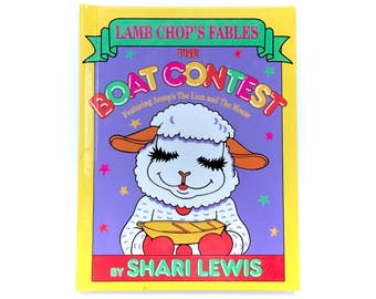 1993 Lamb Chop's Fables Shari Lewis The Boat Contest Hardcover Book Illustrated Picture Novel Manny Campana Time-Life 90s Original Vintage