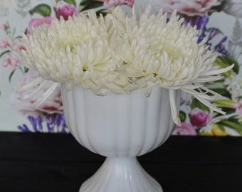 Vintage Milk Glass Planter or Pedestal Bowl