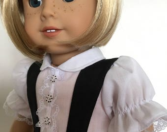 Simply Black and White Skirt and Blouse fits American Girl Dolls