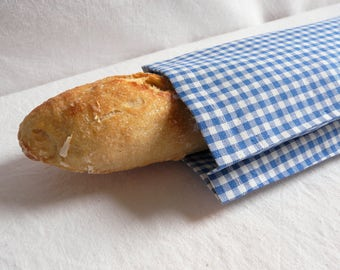 BREAD bag in fabric, Zero waste at aunt Cath trend