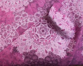 Brocade Pattern Pink Heaven - 100% Cotton