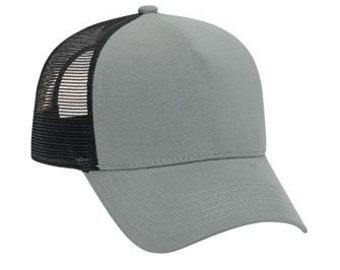 Justin Bieber Style Trucker Hat Black Grey Flannel Look Perse Alternative